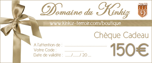 ch que cadeau 150 euros domaine du kinkiz. Black Bedroom Furniture Sets. Home Design Ideas