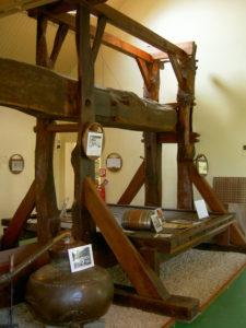 Pressoir du Musée de l'Alambic
