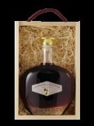 coffret bois carafe liqueur de framboise